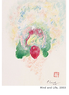Mind and Life painting by Choegyal Rinpoche